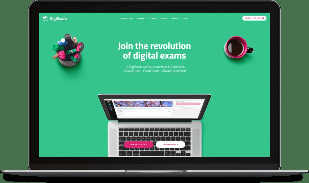 Kreativ webbplats till DigiExam – Dazy Digital