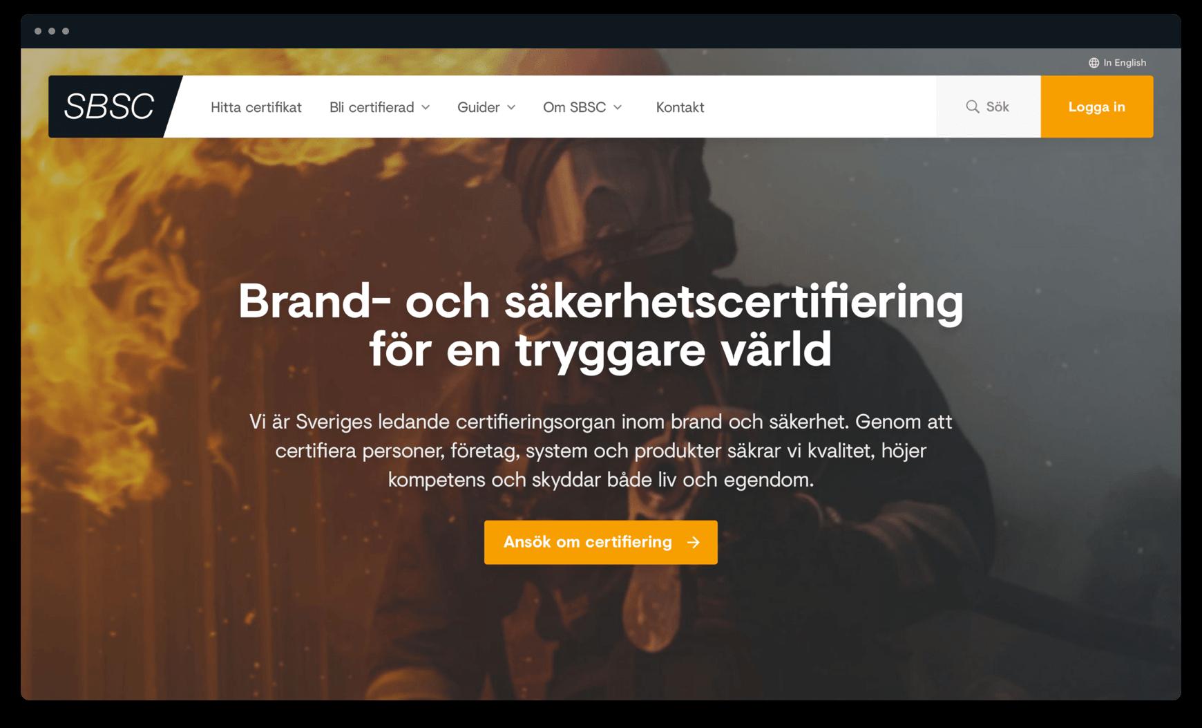 Webbplats åt SBSC